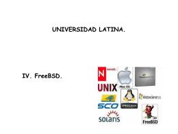Free/BSD - Docencia FCA-UNAM