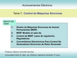 Tema 8 Accionamientos Eléctricos Control de máquinas síncronas
