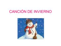 CANCIÓN DE INVIERNO