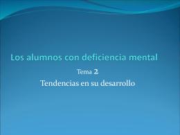 Los alumnos con deficiencia mental-Tema 3 online
