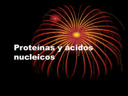 Proteínas y ácidos nucleicos