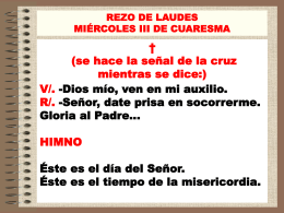 REZO DE LAUDES MIÉRCOLES III DE CUARESMA