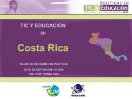 COSTA RICA - Seminario de Políticas en TIC y Educación para