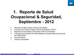 Reporte mensual SEPTIEMBRE 2012