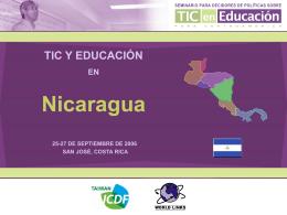 TIC y Educación en Nicaragua