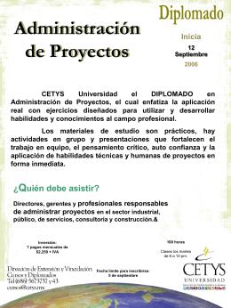 Administración de Proyectos Diplomado Programa