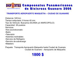 Informacion de transporte
