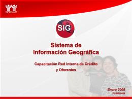 ¿Qué es el SIG?