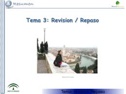 Tema 5: Revision / Repaso