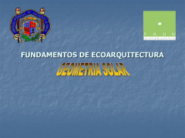 fundamentos de ecoarquitectura geometria solar