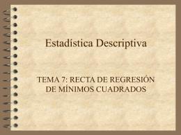 recta de regresion de minimos cuadrados