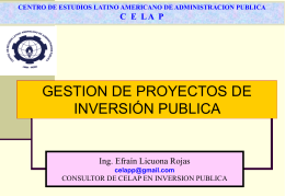 Sistema Nacional de Inversión Pública