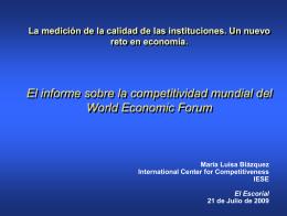 El informe sobre la competitividad mundial del - SISJUDES-CM