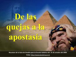 De las quejas a la apostasía Castigo: De regreso al desierto
