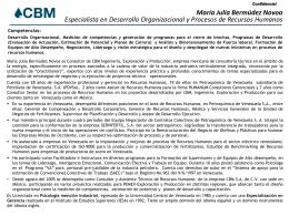CV Maria Julia Bermudez