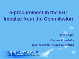 e-Procurement in the EU