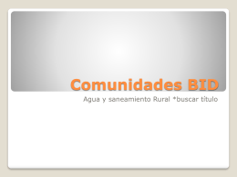 Comunidades BID