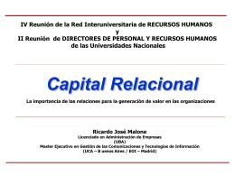 Bajar presentación - Red InterUniversitaria de Recursos Humanos y