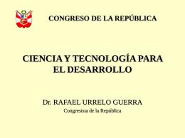 Sin título de diapositiva - Congreso de la República del Perú