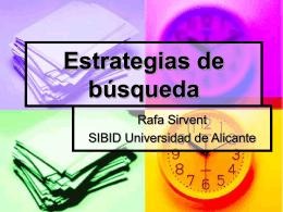 Estrategias de búsqueda - Universidad de Alicante