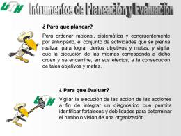 Instrumentos de Planeación y Evaluación