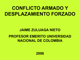 Jaime Zuluaga – Profesor Universidad Nacional de Colombia