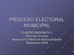 PROCESO ELECTORAL MUNICIPAL,Armando 2008