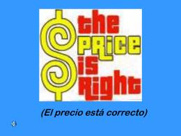 El precio está correcto