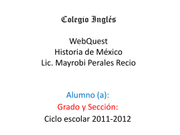 WebQuestHistoriadeMexico