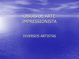 OBRAS DE ARTE IMPRESSIONISTA