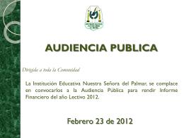 informe obras y mejoras - INSTITUCION EDUCATIVA NUESTRA