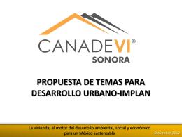 121207 Presentacion Comite Desarrollo Urbano-Implan