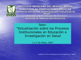 Programa Integrado de Formación Docente - IMSS