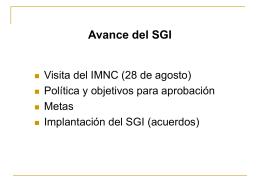 Desarrollo del SGI - SECOD - Instituto de Investigaciones Eléctricas