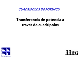 2. Transparencias sobre cuadripolos.