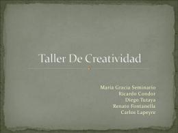 Taller De Creatividad - EC1B-LOS-CHOCLITOS