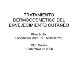 tratamiento dermocosmético del envejecimiento cutáneo