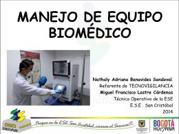 INTRODUCCIÓN AL MANEJO DE EQUIPO BIOMÉDICO