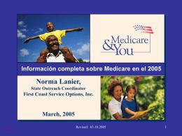 Información completa sobre Medicare en el 2001