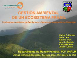 Gestión ambiental de un ecosistema frágil