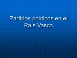 Partidos políticos en el País Vasco