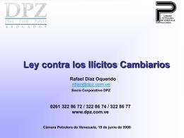 Ley de Ilícitos Cambiarios (Díaz, Pardi & Zuleta)