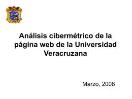 Análisis cibermétrico de la página web de la Universidad