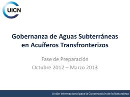 Gobernanza de Aguas Subterráneas en Acuíferos