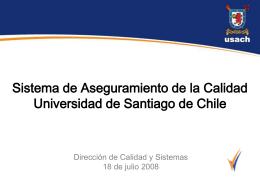 Sistema de Aseguramiento de la Calidad de la Universidad