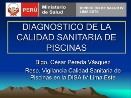 diagnostico de la calidad sanitaria de piscinas