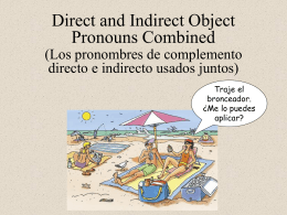 Double object pronouns