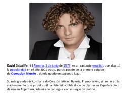 CANTANTES MODERNOS - Instituto Pedagógico Emmanuel Kant
