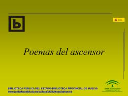 Poemas del ascensor - Portal Bibliotecas Públicas Andalucia