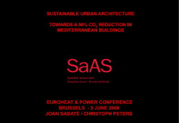 sustainable urban architecture towards a 90% co 2 reduction in